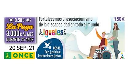 Cupón de la ONCE dedicado al ODS16
