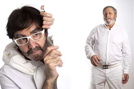 Luis Alcántara y Pepe Madrid, dos de los actores de esta comedia