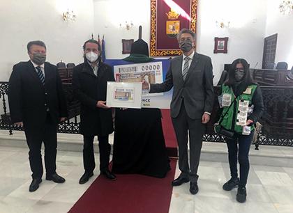 Presentación del cupón dedicado al gentilicio de Medina Sidonia