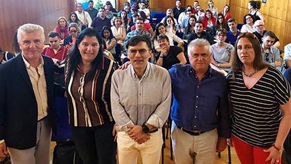 Alberto Durán y José Manuel Pichel, antes de la jornada celebrada en sede de la ONCE en Valencia