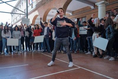 Actuación Arkano con estudiantes del Colegio Salesianos de Atocha (Madrid)