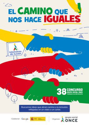 Cartel del 38 concurso escolar del Grupo Social ONCE