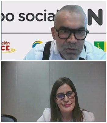 Jorge Íniguez (arriba) y Eva Vilplana (abajo)