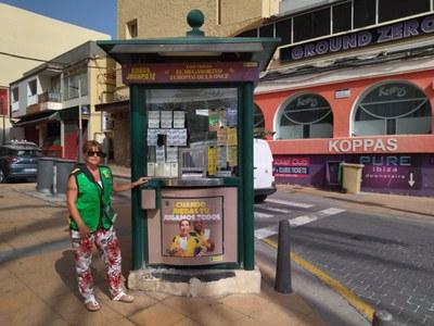 Toñi Torres, vendedora de la ONCE en Ibiza