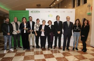 Foto de familia premiados Solidarios Cantabria 2018