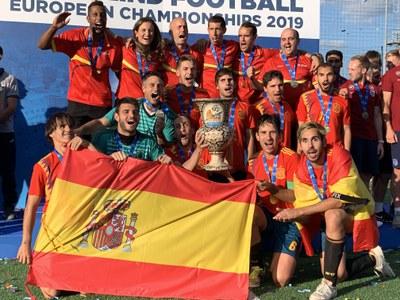 Selección española con la Copa de Europa 2019