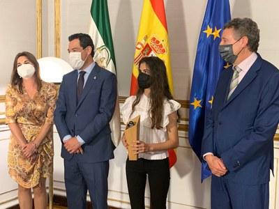 Laura es recibida en San Telmo por Juanma Moreno
