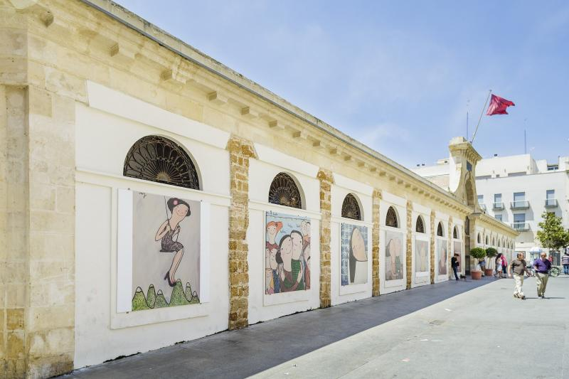 Mercado central, plaza de abastos, de Cádiz