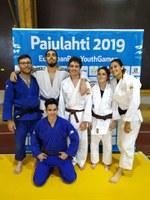 Equipo español juvenil de judo para ciegos