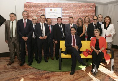 Premiados y autoridades Solidarios ONCE Castilla-La Mancha
