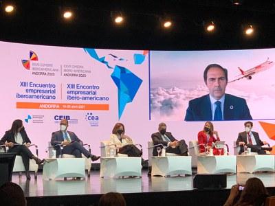 Alberto Durán durante su intervención en la Cumbre