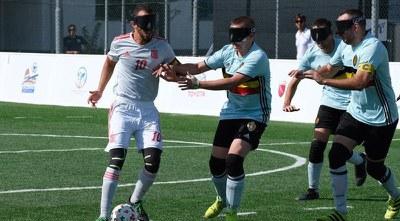 Youseff El Haddaoui ante Bélgica en el Europeo de Roma 2019
