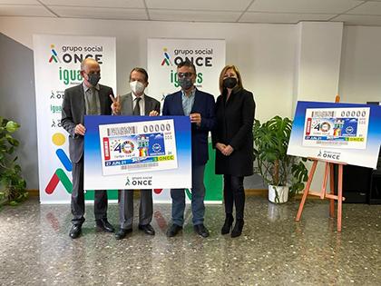 Foto de familia de la presentación del cupón dedicado a los 40 años de la Federación Española de Municipios y Provincias