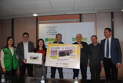 Presentación del cupón de la ONCE dedicado a Aguaviva Teruel