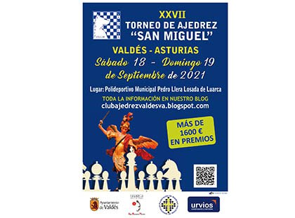 Cartel del XXVII Torneo de ajedrez San Miguel