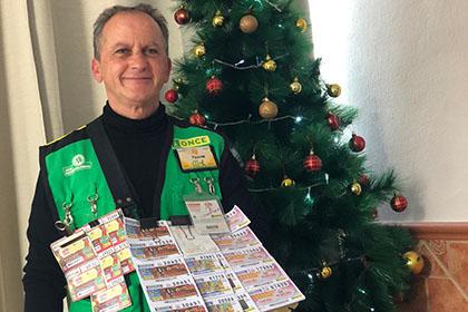 Paco Fernández, vendedor de la ONCE que ha repartido 700.000 euros en Benajarafe