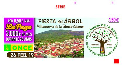 Cupón dedicado a la Fiesta del Árbol de Villanueva de la Sierra