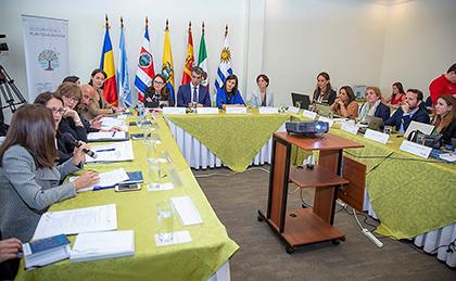 Todo los miembros de la Cumbre durante la reunión