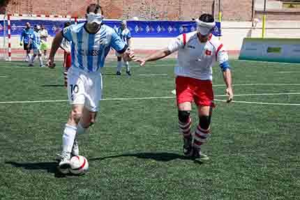 Partido de fútbol para ciegos