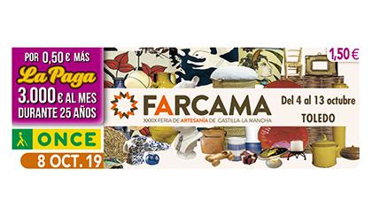 Cupón de la ONCE dedicado a la XXXIX Feria de Artesanía de Castilla-La Mancha
