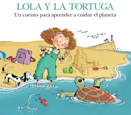 """Portada del cuento """"Lola y la tortuga"""""""