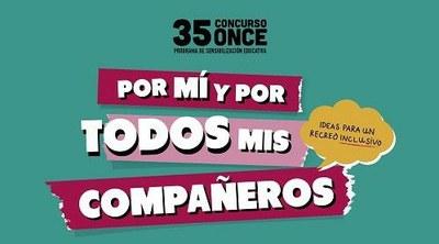 Por mi y por todos mis compañeros, el lema del 35 Concurso ONCE
