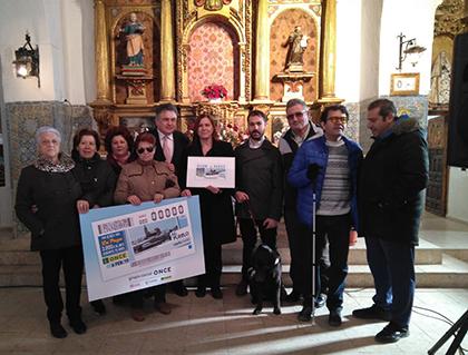Presentación del cupón que la ONCE dedica a Cebolla (Toledo)