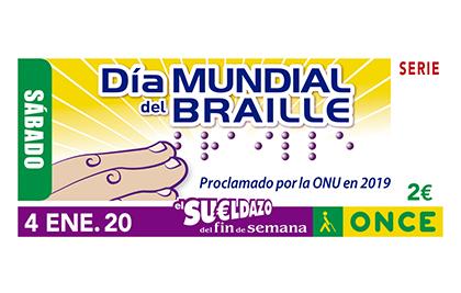 Cupón de la ONCE dedicado al Día Mundial del Braille 040120