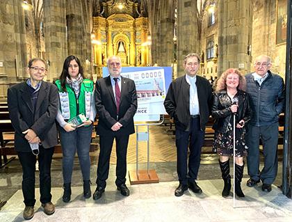 Presentación del cupón dedicado al 400 aniversario de la Basílica de Begoña