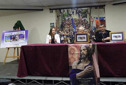 Presentación del cupón dedicado al 75 aniversario de la imagen de Nuestro Padre Jesús Nazareno, de Crevillente