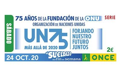 Cupón de la ONCE dedicado al 75 aniversario de la ONU
