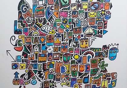 Fragmento de una de las obras de Natan Tarragó