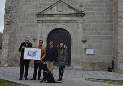 Presentación del cupón que la ONCE dedica al Auditorio de San Francisco, en Ávila