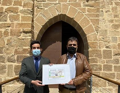 Presentación del cupón de la ONCE dedicado al VI Centenario del Castillo de Marcilla