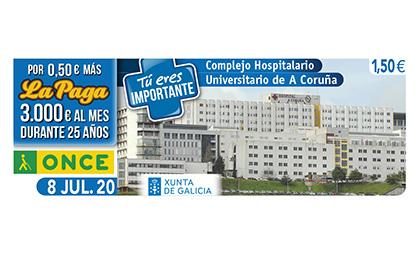 Cupón dedicado al Complejo Hospitalario Universitario de A Coruña