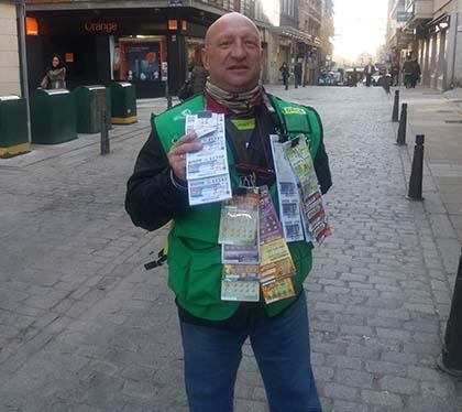 César Rodrigo de Frutos vendedor de la ONCE que ha dejado un Sueldazo en Segovia
