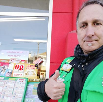 Benedicto Paz Viñas, vendedor de la ONCE que ha repartido el Sueldazo