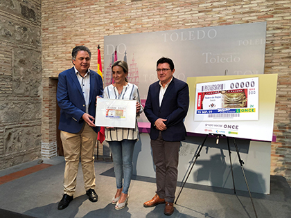 Presentación del cupón de la ONCE dedicado al Teatro de Rojas, de Toledo