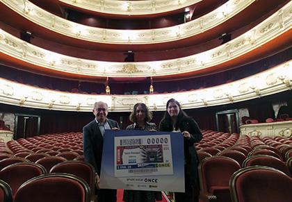 Presentación del cupón dedicado al Teatre Principal de Valencia