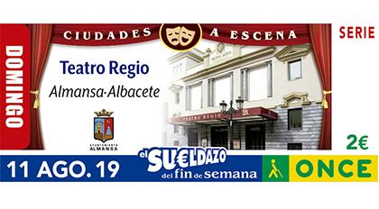 Cupón de la ONCE dedicado al Teatro Regio de Almansa 110819