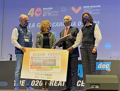 Presentación del cupón dedicado al 40 aniversario de la Maratón de Valencia
