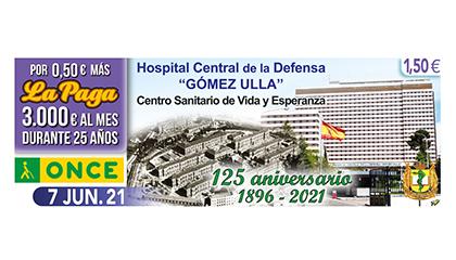 Cupón dedicado al 125 aniversario del Hospital Gómez Ulla