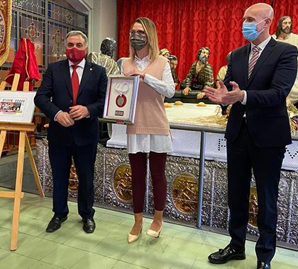 Presentación del cupón dedicado a la Hermandad de Santa Marta de León