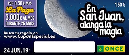 Cupón de la ONCE dedicado a la Fiesta de San Juan 2019 240619