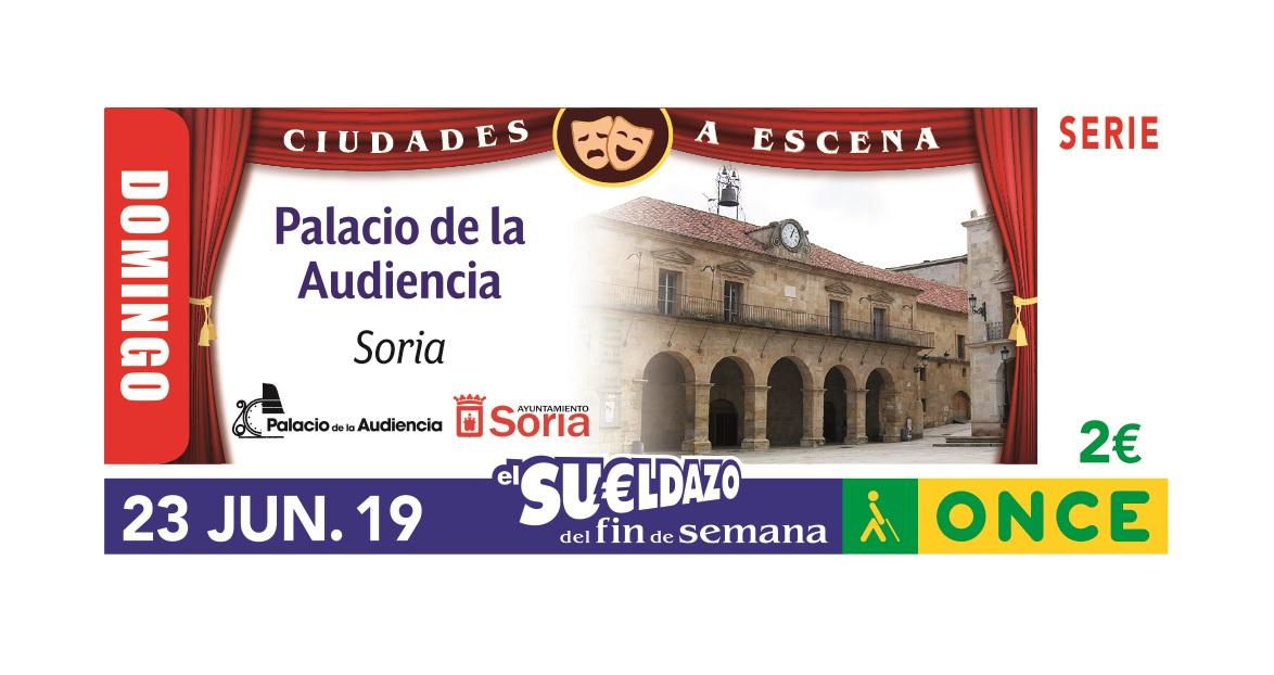 Cupón de la ONCE dedicado al Teatro Palacio de la Audiencia de Soria