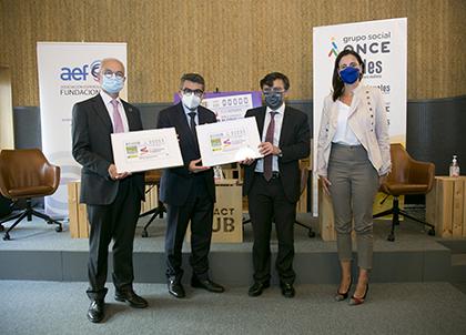 Foto de familia de la presentación del cupón dedicado al Día Europeo de Fundaciones y Donantes