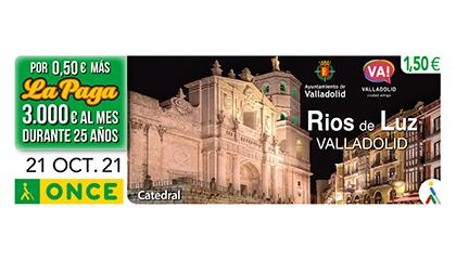 Cupón de la ONCE dedicado a Rios de Luz (Valladolid)