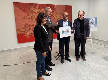 Presentación del cupón de la ONCE dedicado al Centenario de César Manrique