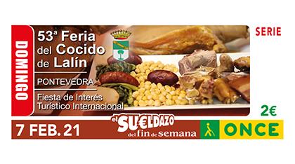 Cupón de la ONCE dedicado a la 53 Feria del Cocido de Lalín