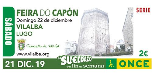 Imagen del cupón dedicado a la Feria del Capón de Vilalba (Lugo)
